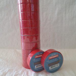 Изолента ПВХ червона 19 мм х 10 м
