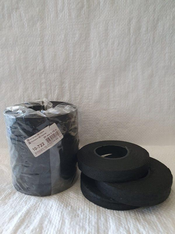 Изолента ХБ чорная 20 мм х 28 м (10-722)
