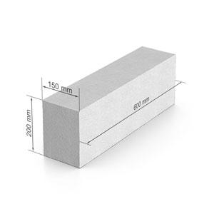 Газобетон  UDK_SB 400  600х200х150 В2.5