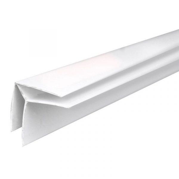 Угол внутренний пластиковый белый 8мм,6м