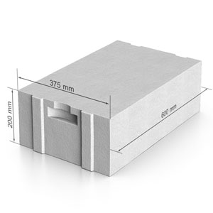 Газобетон  UDK_SB 400  600х200х375 В2.5