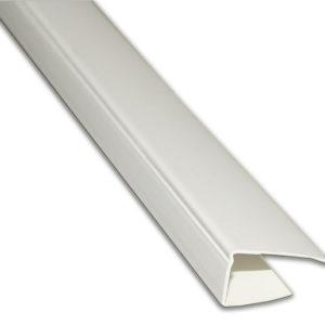 Стартовый профиль П-формы белый 8 мм, 6м