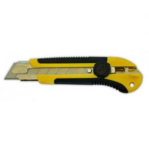 Нож с вращающимся фиксатором, укреплен, 18мм