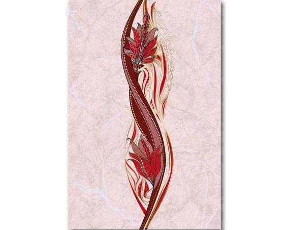 Декор Александриия розовый 200 * 300 (В15401) 1 сорт¶