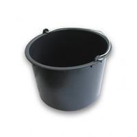Ведро строительное круглое 12л пластмассовое черное 250321¶