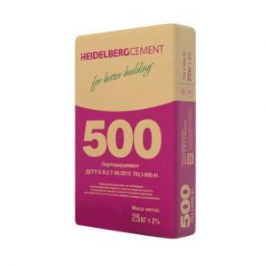 Цемент ПЦI-500-H, 25 кг, Heidelberg