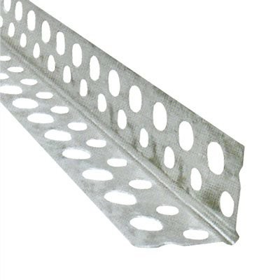 Защитный угол 25 * 25 * 2500 алюминиевый перфорированный, премиум