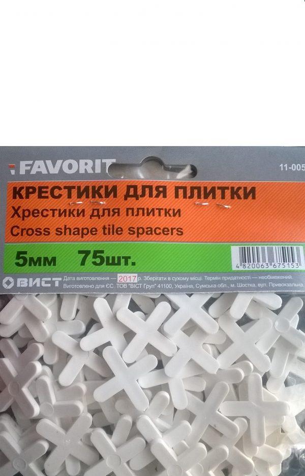 Крестики для кафелю 5 мм (75шт)