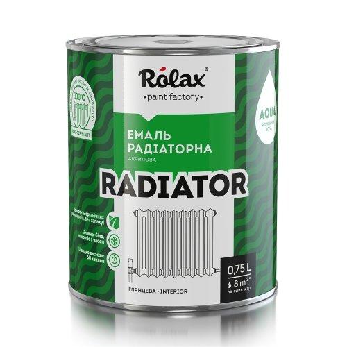 Эмаль радиаторная акриловая 0,93кг Ролакс