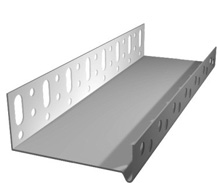 Профиль алюм цокольный 53мм 2,5м