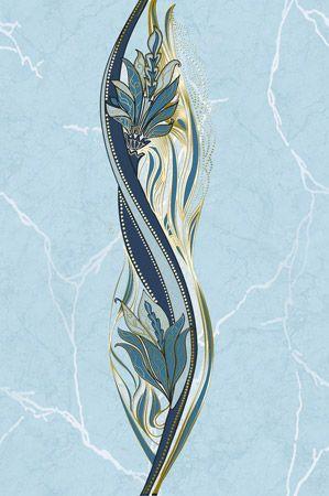 Декор Александриия голубой 200 * 300 (В13401) 1 сорт¶