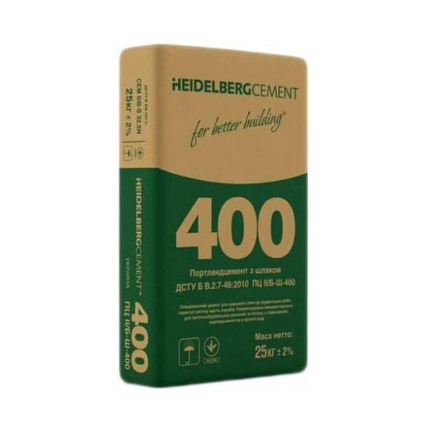 Цемент ПЦ II/Б-Ш-400, 25 кг, Heidelberg зеленый