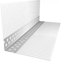 Угол пластиковый перфорированный с сеткой + кап 2,5 м.