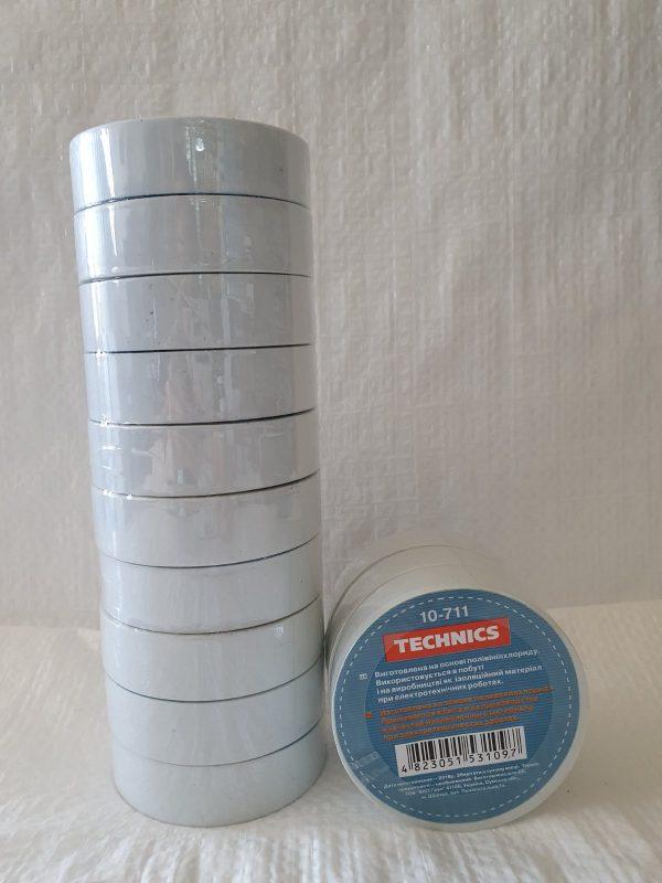 Изолента ПВХ біла 19 мм х 20 м