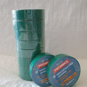 Изолента ПВХ зелена 19 мм х 20 м