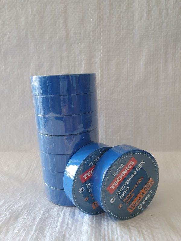 Изолента ПВХ синя 19 мм х 20 м