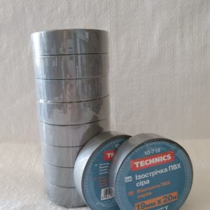 Изолента ПВХ сіра 19 мм х 20 м