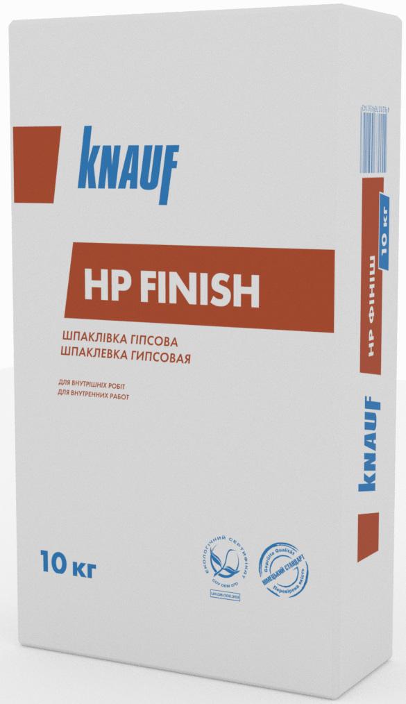 КНАУФ HP FINISH, ФИНИШНАЯ ГИПСОВАЯ ШПАКЛЕВКА 1-5 ММ, 10 КГ.