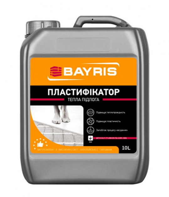Пластификатор Байрис (теплый пол) 10л
