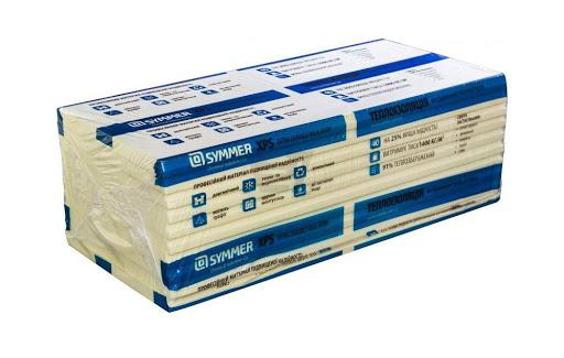 Пенопласт экструдированный, пенополистирол SYMMER XPS 1200*550*20мм.(0,66кв.м.)